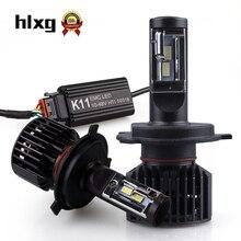 HLXG мини h7 светодиодный 16000лм автомобильный головной светильник s H1 H11 H4 светодиодный HB3/9005 HB4/9006 лампы анти-ЭМС радио FM без мерцания 6500K Авто Лампа светильник