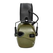 Электронные Наушники для стрельбы, тактические, для спорта на открытом воздухе, анти-шум, звук, усиление, Защита слуха, наушники, тактические головки