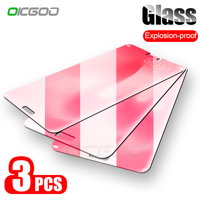 OICGOO Tempered Glass For Huawei P20 P30 P10 Mate 20 Honor 10 Lite Screen Protector Glass For Huawei P Smart 2019 P10 Plus Glass