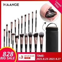 MAANGE 6 stücke-20 stücke Make-Up Pinsel Set mit Natürlichen Haar Foundation Pulver Lidschatten Make-Up Pinsel Erröten