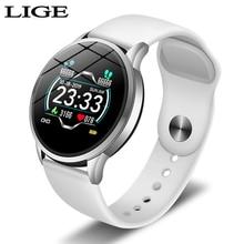 цены LIGE 2019 Smart Watch Women OLED Color Screen Smart Bracelet Fashion Sport Fitness Tracker Heart rate blood pressure monitor+box