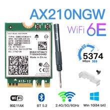 Wi-Fi 6E Intel AX210, Bluetooth 5,2, беспроводная плата M.2 Wlan Wi-Fi 802.11AX 3000 Мбит/с, Wi-Fi 6 AX200, двухдиапазонный сетевой адаптер 2,4G/5 ГГц