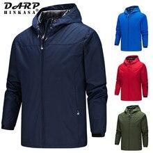 Brand New Waterproof Hooded Jacket Windbreaker Men 2021 Spring Casual Windproof Jacket Coat Outdoor Warm Sports Jacket Men