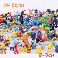 144 different Pcs Pokemon Pikachu Small Fire Dragon Desktop Decoration Home Decoration Crafts