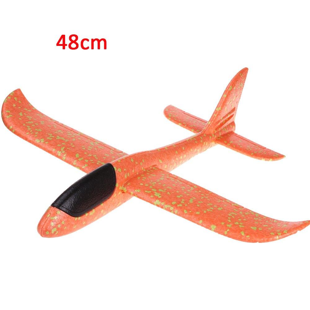 Детские игрушки «сделай сам» самолет из пеноматериала ручной бросок самолет Летающий планер самолет вертолеты летающие модели самолетов самолет игрушка для детей игры на открытом воздухе - Цвет: 48cm-Orange