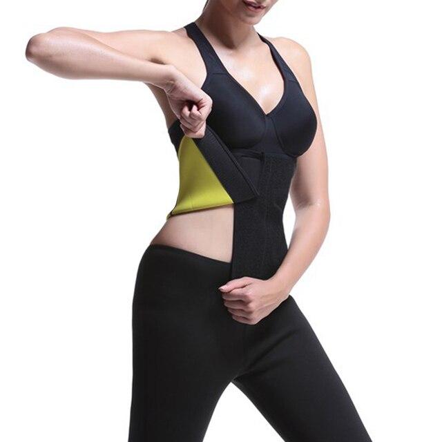 Women Fitness Body Shaper Vest Slimming Shapewear Shirt Sweat Sports Yoga Top Slimming Sweat Belly Belt Body Shaper 5