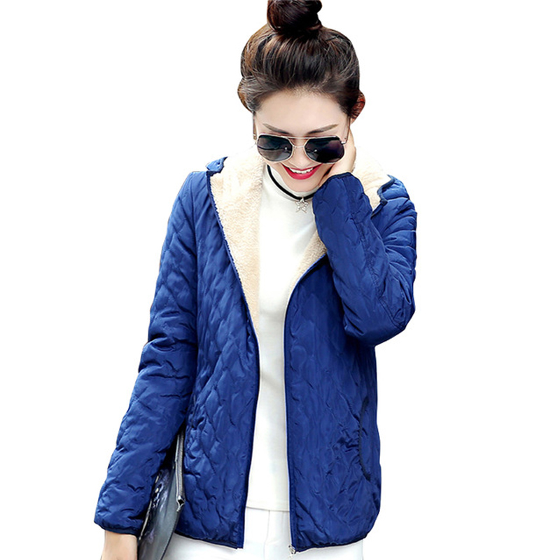 2019 fashion women winter hooded coat long fleece thin slim spring   basic     jacket   female outerwear short girls jaqueta feminina