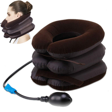2pcs 3 Layer Inflatable Air Cervical Neck Traction Device Soft Neck Pillow Adjustable Collar for for Home Use Relaxes Tension цены онлайн