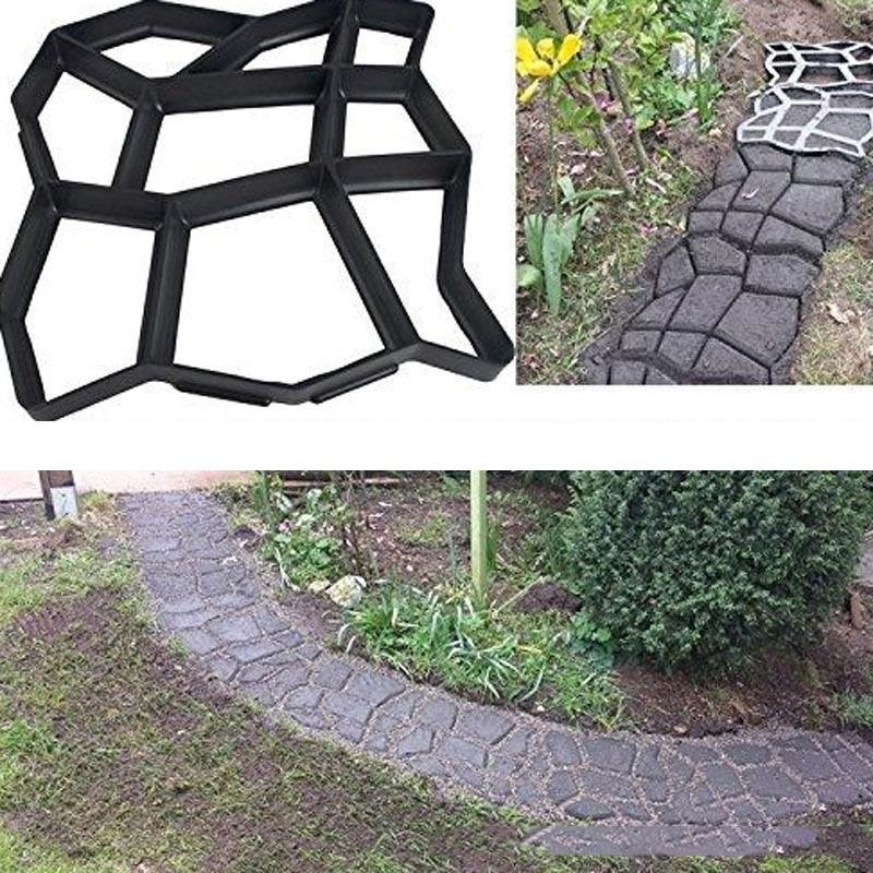 Floor Path Maker Mould Concrete Mold Reusable DIY Paving Durable for Garden Lawn NOV99