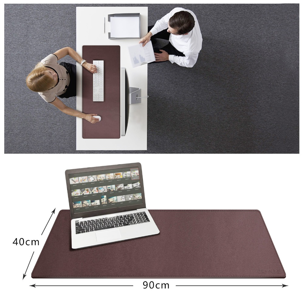"""Desk Pad 35.5/""""x15.5/"""" Large Size Leather Mouse Pad Stylish Design for Office/&Home"""