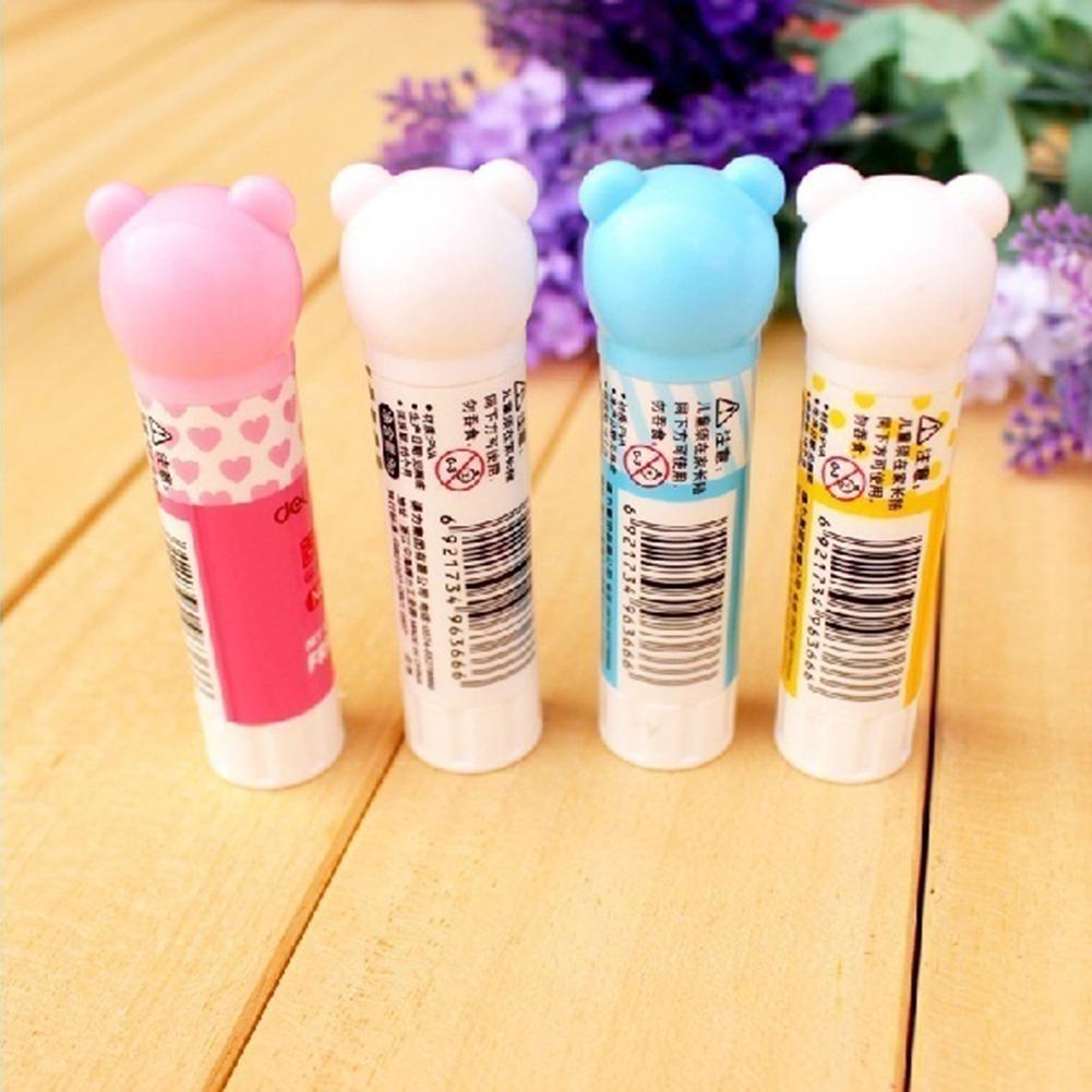 Kawaii Strong Adhesive Glue Stick Cartoon Panda Animal Pattern Students Supplies
