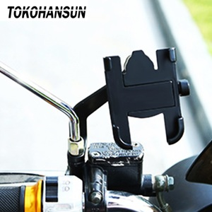 Image 1 - Motorcycle Telephone Holder Support Moto Bicycle Rear View Mirror Stand Mount Aluminum Scooter Motorbike Phone for Samsung s9 s8