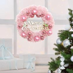 30/40cm Christmas Decoration Pink Christmas Wreath Rattan Ring Shopping Mall Window Scene Ornaments Artificial Christmas Wreath 3
