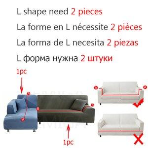 Image 2 - אלסטי ספה ספה כיסוי חתך סלון ספה ריפוד כורסא ריהוט כיסוי, L צורת צריך לקנות 2 חתיכות