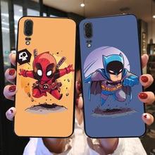 Cute Cartoon Spiderman Black TPU Shell For Huawei P20 Lite Cases Pro Bags Case Widow Bumper