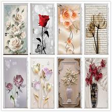 Стерео цветок домашний декор наклейка на дверь ремонт натуральный
