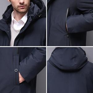 Image 5 - Blackleopardwolf 2019 Winter Men Coat Detachable Hood Warm Jacket Cotton Padded Winter down jacket Men Clothes BL 852