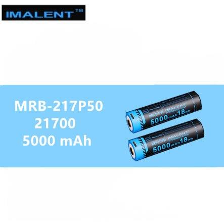 2 PCS IMALENT 21700 5000mah 15A Rechargeable USB Battery