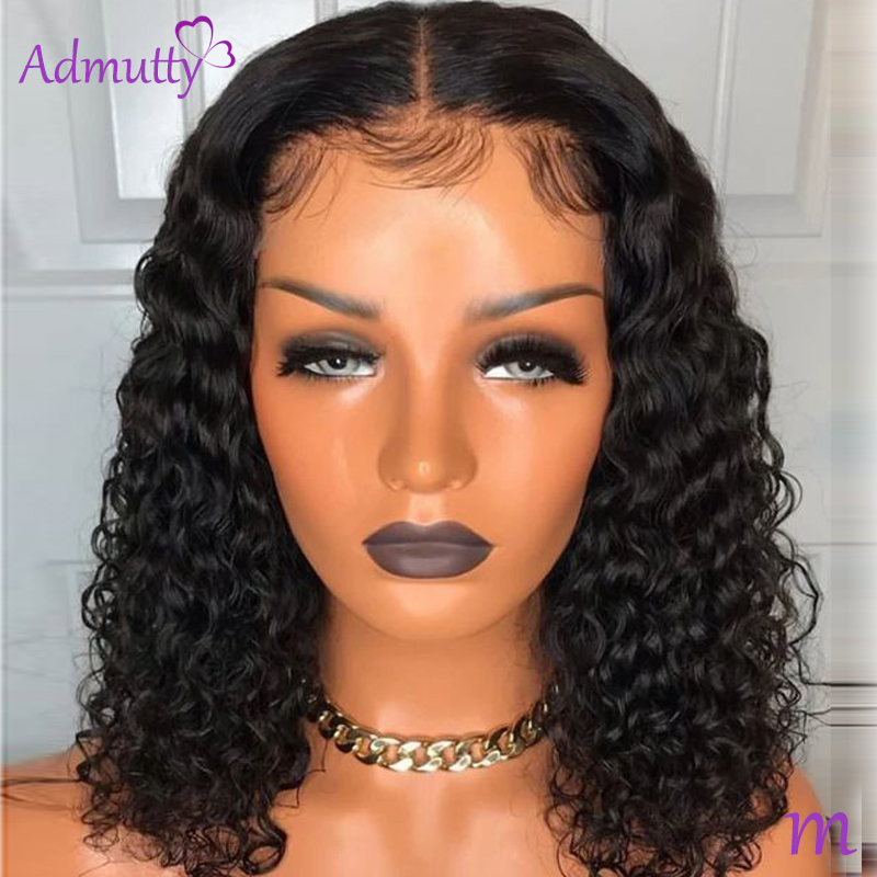 Deep Wave Short Bob Wigs For Women Brazilian 13*4 13*6 Bob Lace Front Human Hair Wigs Pre Plucked Natural Hairline 150% Remy