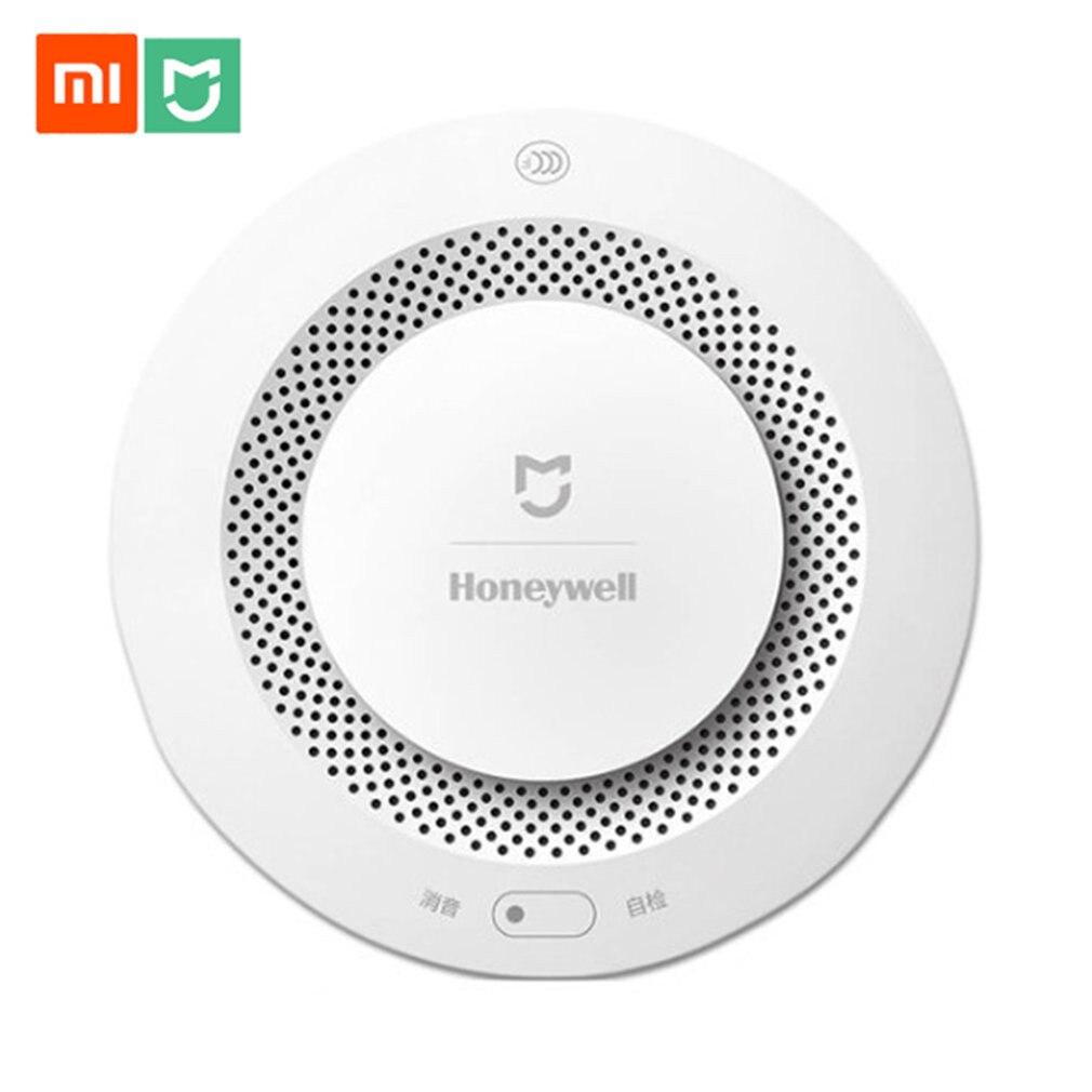 Original Xiaomi Mijia Honeywell Fire Alarm Detector Remote Control Audible Visual Alarm Notication Work with Mi Home APP|Smoke Detector| |  - title=