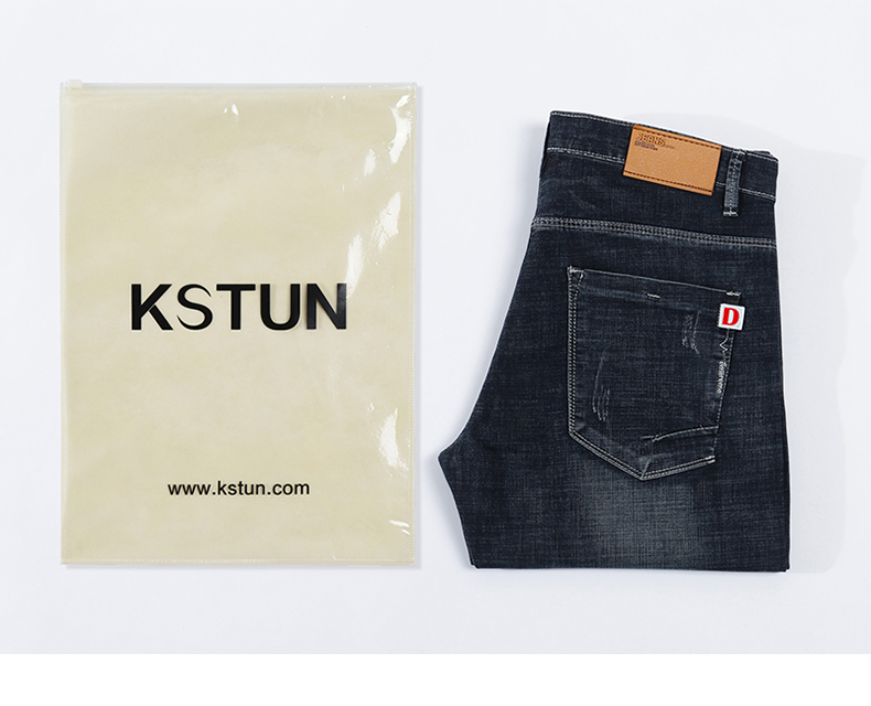 KSTUN Mens Jeans Black Famous Brand Slim Straight 2020 Summer Full Length Trousrs Men's Clothing High Quality Male Jeans Wholesales 20
