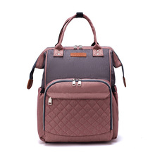 Mom Lequeen Fashion Mummy Maternity Nappy Bag Brand Large Capacity Baby Travel Backpack Designer Nursing for Care