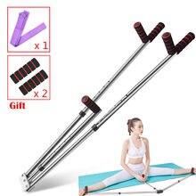 Ajustável 3 Bar Maca Perna Dividir Máquina de Alongamento da Perna de Aço Inoxidável Suporte para Ballet Dança Yoga Treinamento de Ginástica