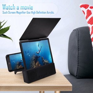 Image 3 - Besegad 12 inch 3D HD Phone Screen Amplifier Magnifier Movie Video Projector with Bluetooth Spearker Photo Frame Mobile Power
