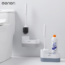 Storage silicone toilet brush holder toilet wall-mounted cleaning brush household floor cleaning bathroom accessories