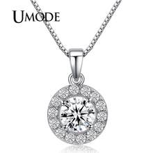 UMODE Hearts & Arrows cut 0.6 carat Top Quality AAA+ CZ Cubic Zirconia Round Pendant Necklace UN0012(China)