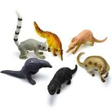6 шт моделирование bobcat anteater модель диких животных коллекционная