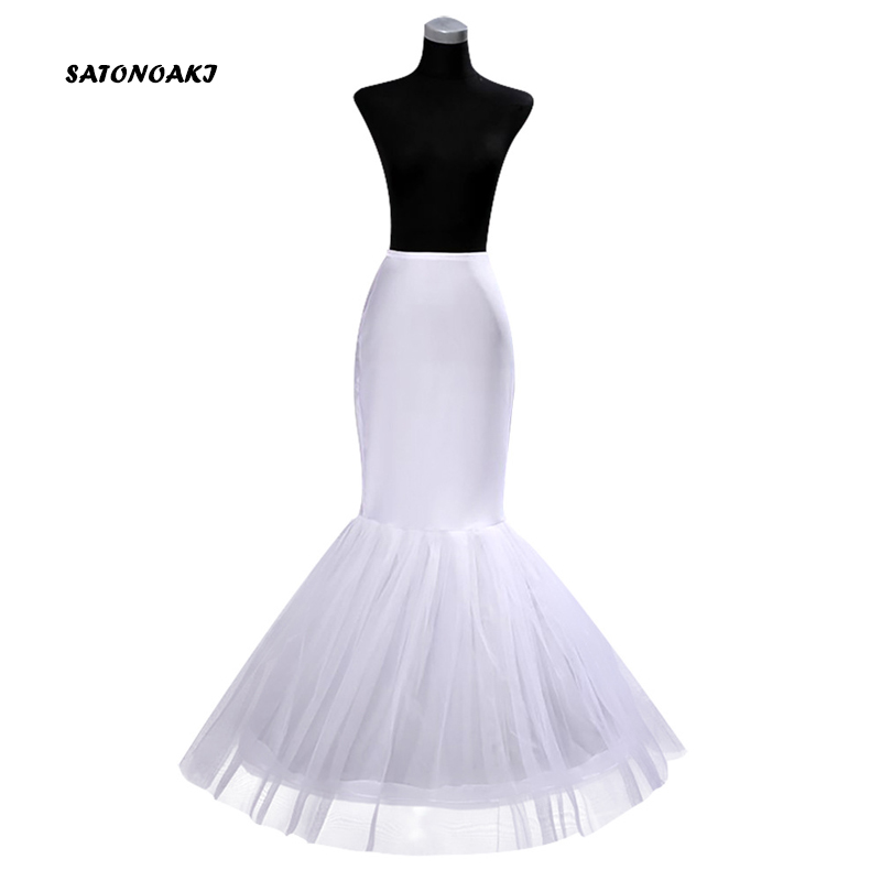 SATONOAKI Hot Sale Cheap Mermaid Wedding Petticoat Bridal Accessories Underskirt Crinoline Petticoats For Wedding Dresses Jupon