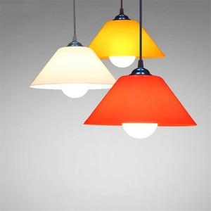 Image 4 - Modern Pendant Lights Kitchen Fixtures Plastic PVC Lampshade Dinning Room Pendant Lamp Home Lighting Decor Supermarket Luminaire
