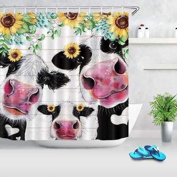farm cow shower curtain funny animal