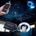 Bluetooth APP LED Fiber Optic Lichter 12W Auto Starry Lichter Musical Sound Active Control 3m 370 stücke Optische faser Kabel Beleuchtung