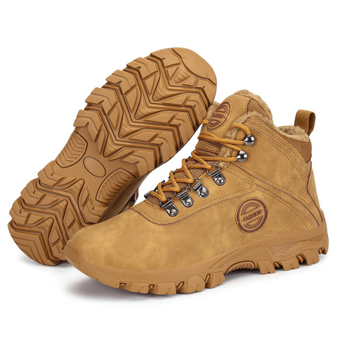 Winter Fur Boots Men Shoes Safty Military Boots Outdoor Snow Boots Army Boots Ankle Warm Shoes Casual Flats zapatos de hombre Pakistan