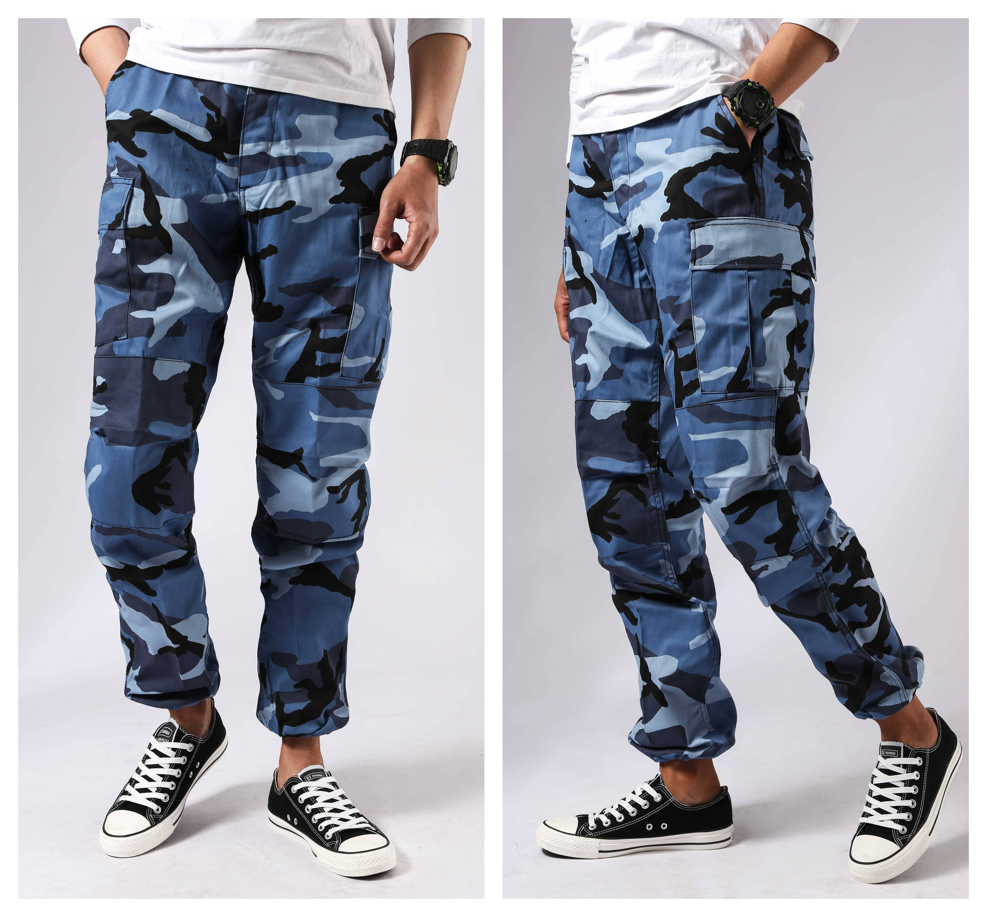 Mens Military Army Combat BDU Pants Work Casual Camouflage Fashion Cargo Pants