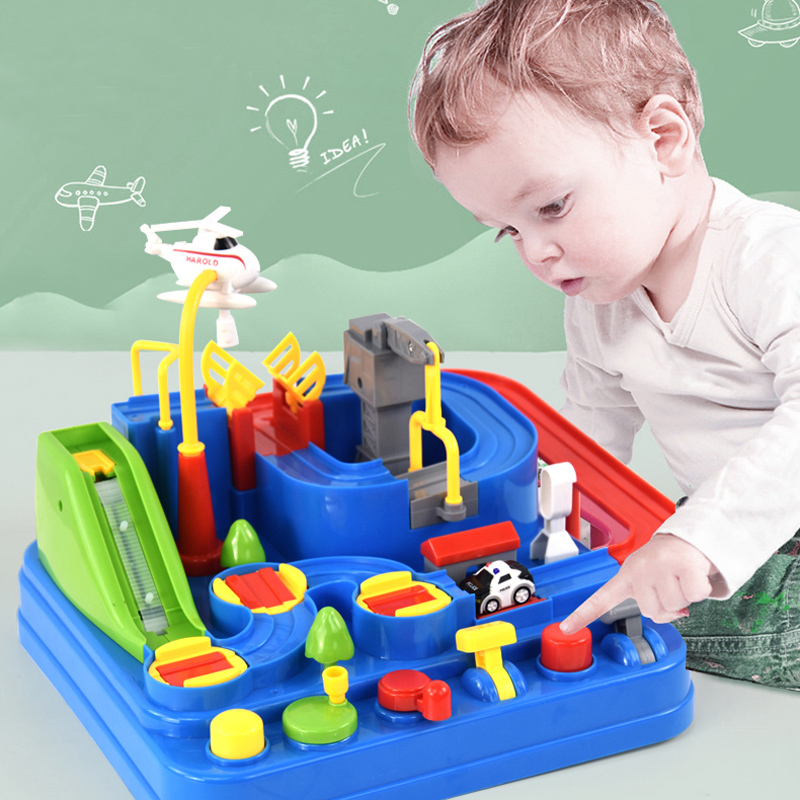 Juguetes educativos para niños, coches de juguete para niños, pista de aventuras, juego de mesa, Rail, aparcamiento mecánico, regalos de Navidad para niños