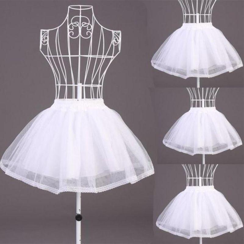 Mesh Underskirt Petticoats Crinolines Dress Short Tulle Elastic Women Girls for Waistband