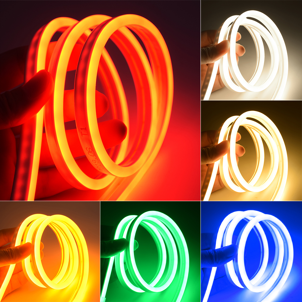 Neon Lights LED Strip DC 12V Flexible 2835 LED Strip Waterproof Sign Flash Rope Tube Cable Decor Silicone Tube Lamp Car Flexibl image