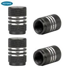 4Pcs/Lot Tire Stem Valve Caps Aluminium Car Dustproof Caps Tire Wheel Stem Air Valve Caps