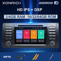 IPS DSP 4GB 2Din Android 10Car Radio For BMW X5 E53 BMW E39 multimedia Audio GPS navigation stereo DVD Player head unit 8core64G