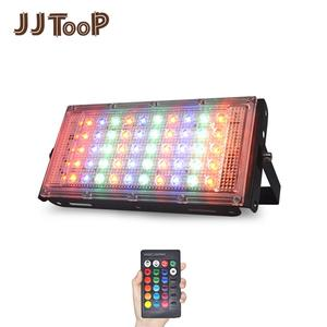 Image 1 - LED הארה חיצוני זרקור 10W 50W קיר מכונת כביסה מנורת רפלקטור IP65 עמיד למים תאורת גן RGB מבול אור AC 220V 240V