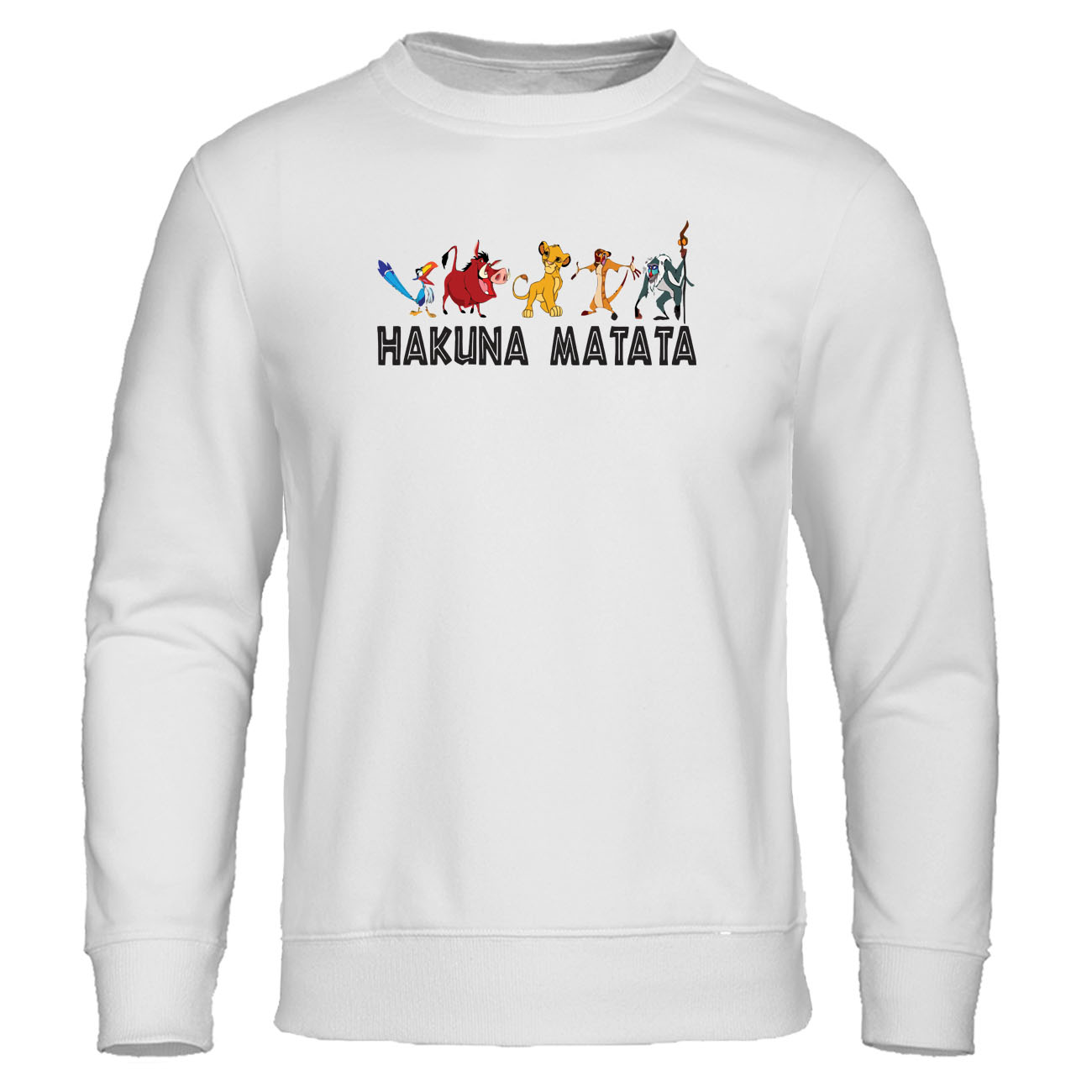 The Lion King Simba Movie Hakuna Matata Print Hoodie Sweatshirt Fashion Hot Sale Hoodies Harajuku Streetwear Autumn Men Clothes