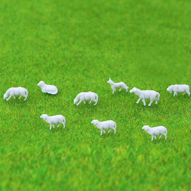 5pcs Ho Soale 1:87and1:150 Sand Table Model Small Animal Color Model Cow Horse Sheep Handicraft Display DIY Handmade Creation 6