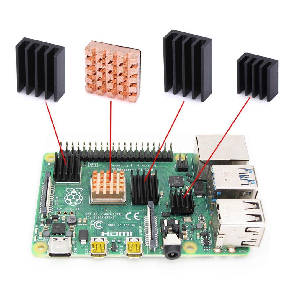 3 Model B Aluminum Heat Sink Raspberry Pi RPI Cooling CPU Copper Heat Sink PLUS