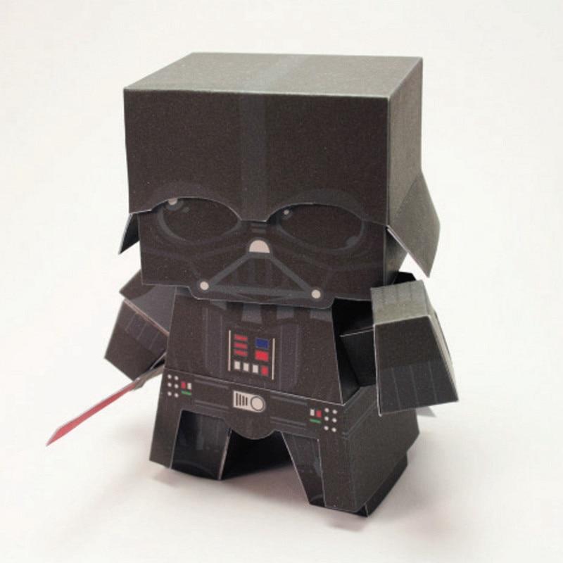 Star Wars Darth Vader Folding Cutting Mini Cute 3D Paper Model Papercraft Movie Figure DIY Cubee Kids Adult Craft Toys FC-001