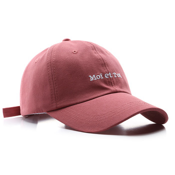 2020 New Casual Baseball cap for women and men Fashion Moi et Toi embroidery hat Boys Girls Snapback Hat Visors Cap Casquette недорого