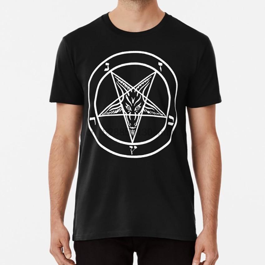 Inverted pentagram baphomet head pentagram t shirt small to 2 extra large size