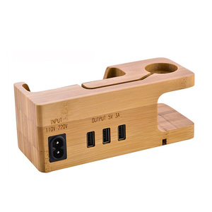 Image 3 - Besegad Bamboo Charging Charger Dock Mount Holder Station for Apple Watch iWatch Series 4 3 2 1 38/42mm iPhone 10 X 8 7 6s Plus